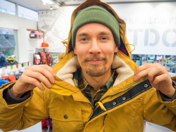 """""""Jack Wolfskinin tyylikäs Fort Nelson -talvitakki on kaupunkilaisen ja  tyylitietoisen miehen valinta. Materiaalina takissa on puuvillapolyester 434ee1b1f9"""