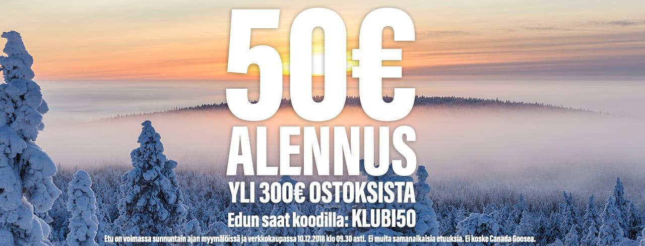 50€ alennus   jouluetu