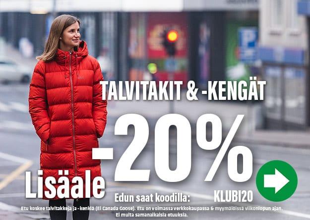 Talvitakit ja -kengät -20%