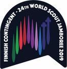 Partiotuote Jamboree 2019 kangasmerkki