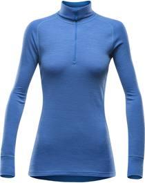 Devold Duo Active Zip Neck Woman Light Blue