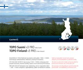 Garmin Topo Suomi Pro V3 North Finland Scandinavian Outdoor