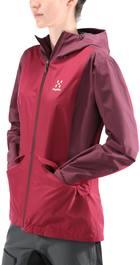 Haglöfs Mila Rain Women'S Jacket Tummanpunainen