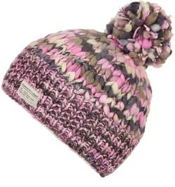 Kusan Bobble Hat Uneven Pink