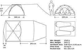 Marmot Tungsten Ul Hatchback 3P