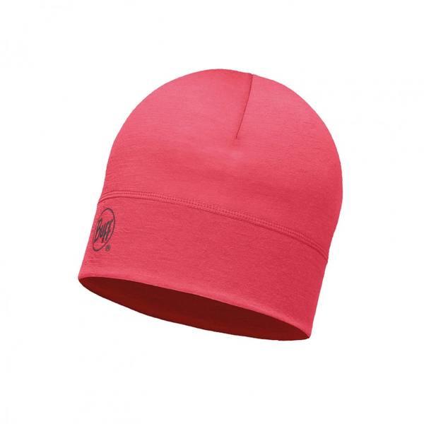 Buff Merino Hat Pink Hibiscus