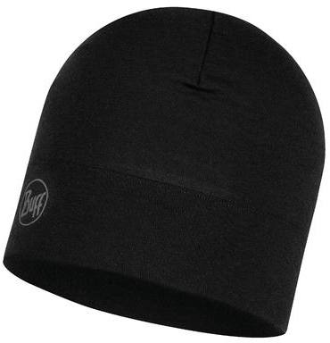 Buff Midweight Merino Hat Solid Black