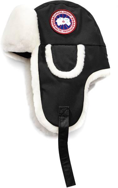 Canada Goose Arctic Tech Shearling Co-Pilot Hat Black