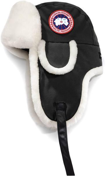 Canada Goose Arctic Tech Shearling Pilot Hat Black