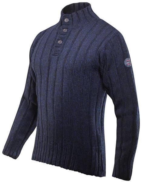 Devold Amundsen Button Neck Dark Blue
