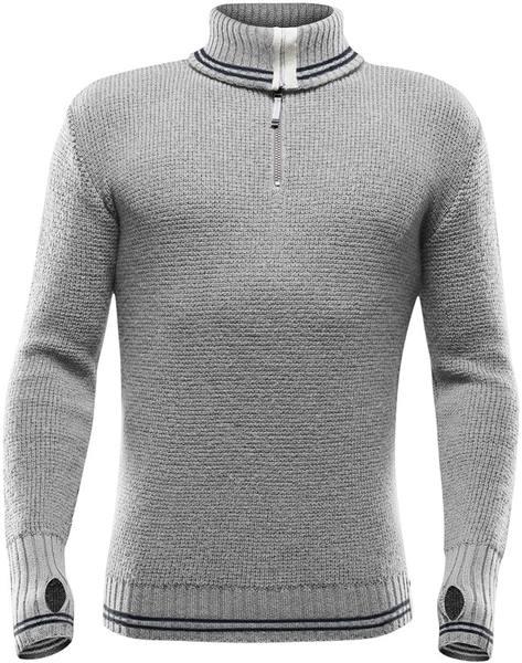 Devold Randers Zip Neck Men Light Grey