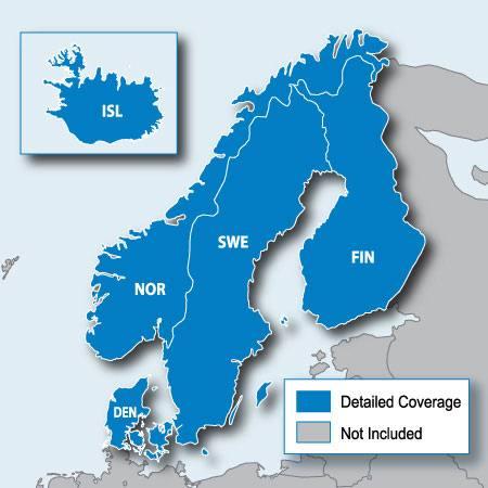 Garmin Pohjoismaiden Maantiekartta Microsd