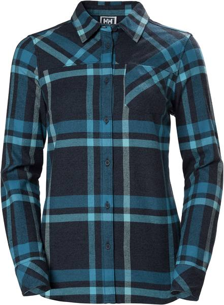 Helly Hansen W Classic Check Ls Shirt Turkoosi