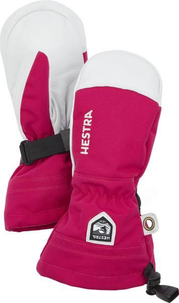 Hestra Army Leather Heli Ski Jr Fuchsia