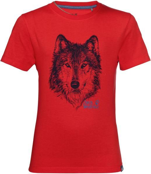 Jack Wolfskin Brand T Boys Red