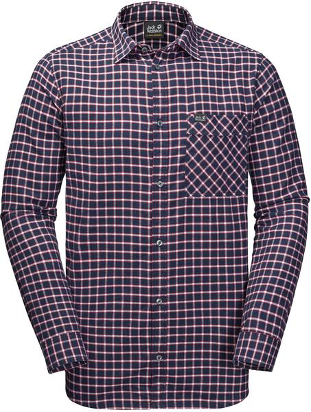 Jack Wolfskin Fraser Island Shirt Night Blue Checks