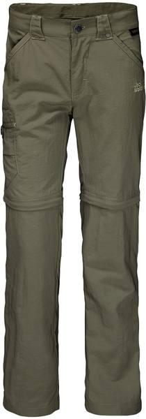 Jack Wolfskin Kids Safari Zip Off Pants Kids Dark Green