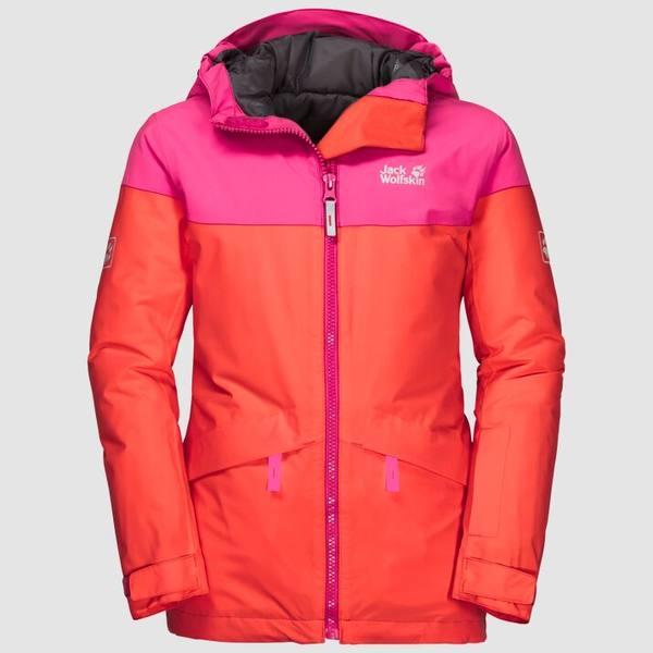 Jack Wolfskin Powder Mountain Jacket Girls Oranssi