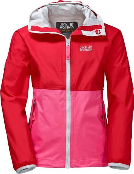 Jack Wolfskin Rainy Days Texapore Jacket Girls Red