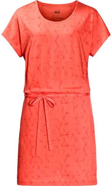 Jack Wolfskin Shibori Dress Hot Coral All Over
