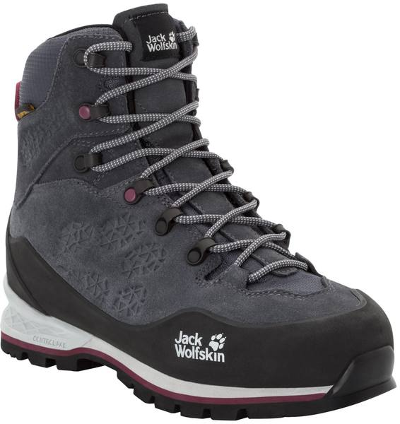 Jack Wolfskin Wilderness Xt Texapore Mid W Ebony / Burgundy