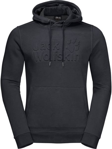 Jack Wolfskin Winter Logo Hoody M Dark Grey