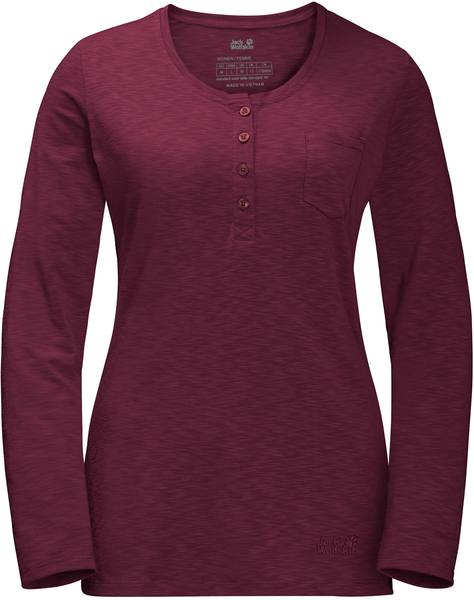 Jack Wolfskin Winter Travel Henley Women Dark Red
