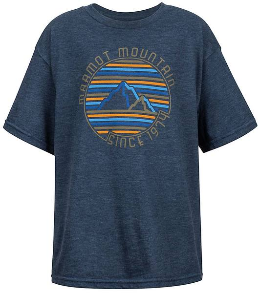 Marmot Boys Purview Tee Ss Navy