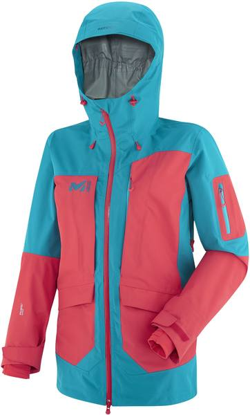 Millet Ld White Cargo Neo 3L Jacket Blue/Red