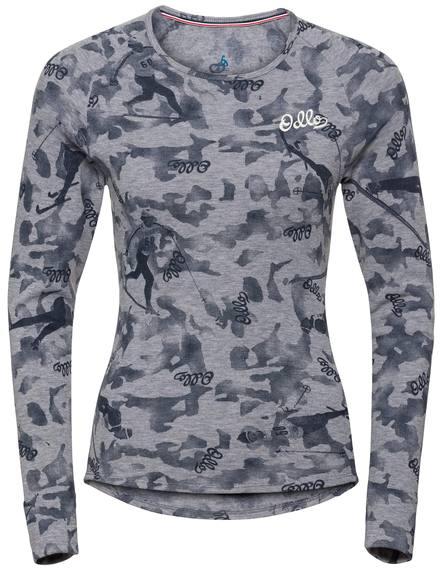 Odlo Women'S Active Warm Originals Long Sleeve Base Layer Top Grey