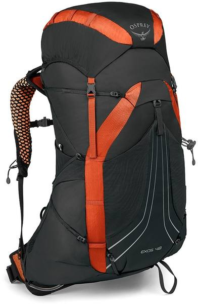 Osprey Exos 48 Black / Orange