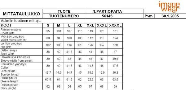 Partiotuote Partiopaita -05, Sin, Naisten