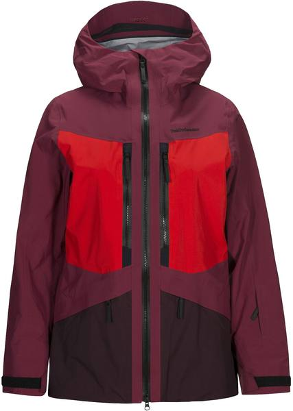 Peak Performance Gravity Jacket Women Tummanpunainen
