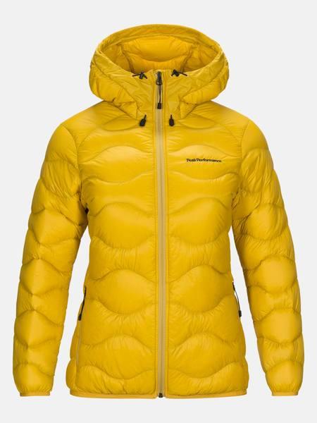 Peak Performance Helium Hooded Jacket Women Fall 2019 Keltainen