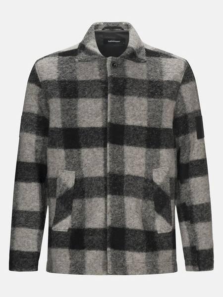 Peak Performance Wool Shirt Square Men Harmaa / Musta