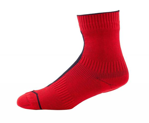 Sealskinz Road Ankle + Hydrostop Red