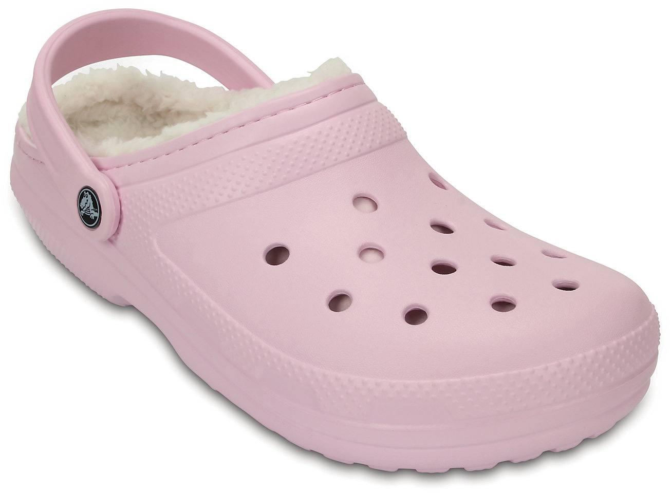 43df56136eeca2 Crocs Classic Fuzz Lined Clog