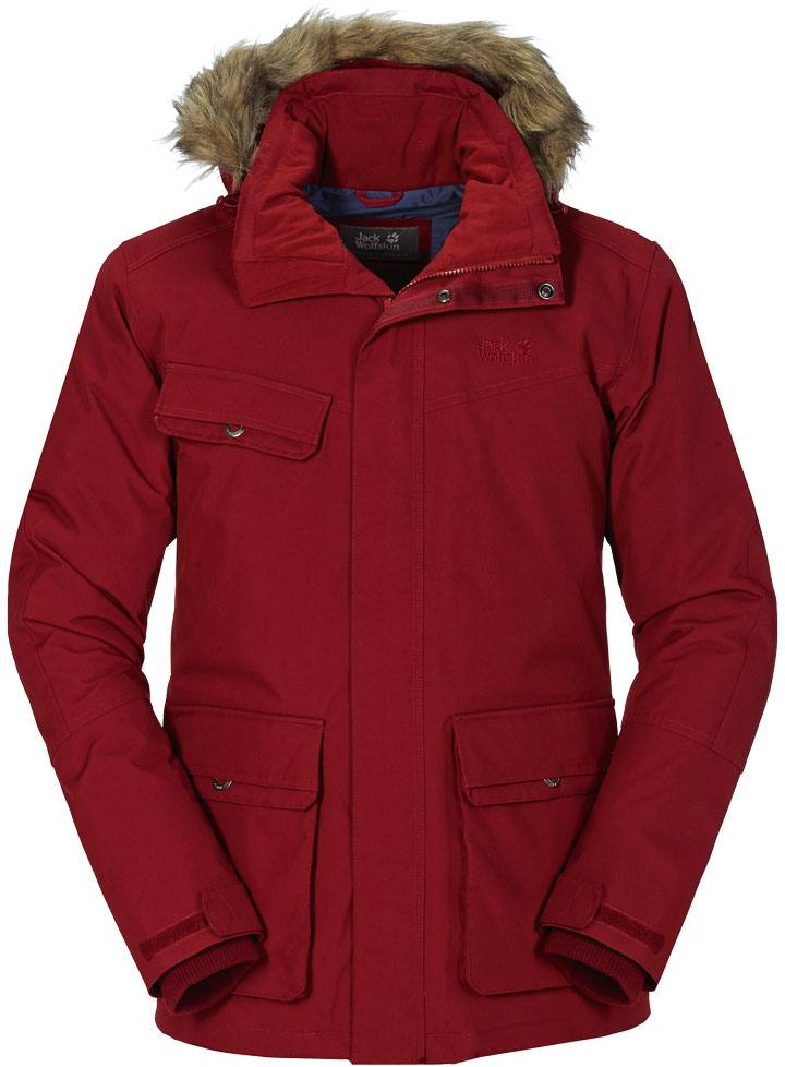 727aaffd558 Jack Wolfskin Nova Scotia Ii Texapore Jacket Dark Red. Full image ...